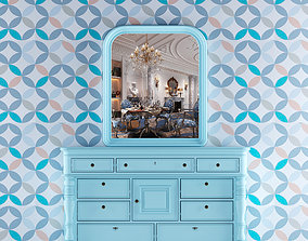 3D Provence style chest of drawers