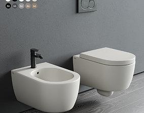 Ceramica Cielo Smile Wall-Hung WC 3D asset
