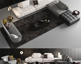 3D Minotti Lawrence Clan Seating 3 luxury