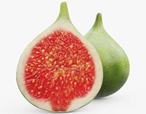 3D asset game-ready Green Figs