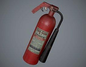 3D asset realtime PBR pbr Fire Extinguisher