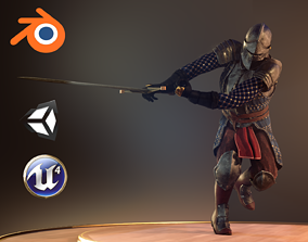 Knight 8 3D model rigged