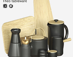 Coffee set THEO 3D