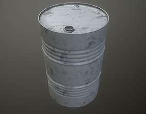3D asset game-ready Oil drum