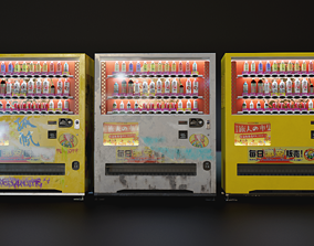 Japanese Style Vending Machine 3D model
