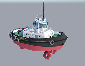 3D asset VR / AR ready Tugboat