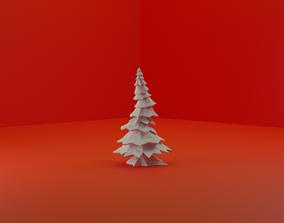 3D Simple Blank LowPoly Pine Tree
