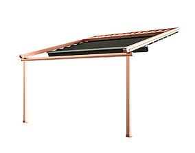 3D model Motorized Pergola 5 copper matte outdoor