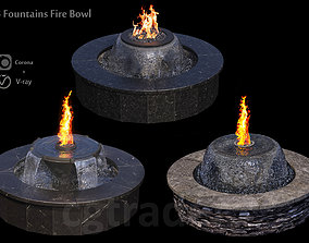 3D 3 Fountains Fire and Water Bowl
