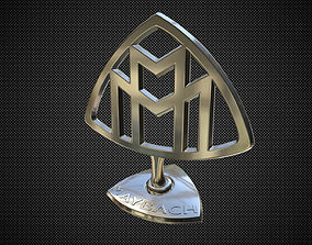 maybach hood ornament 3D model