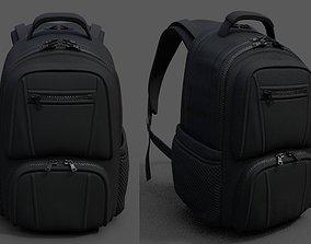 Backpack Camping Generic military Black baggage 3D model