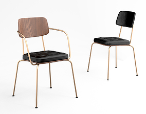 Stellar Works Utility Stacking Armchair V and 3D model 1