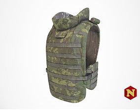 3D asset Bulletproof Vest 6B43 Russian Ratnik