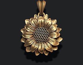 3D printable model Sunflower pendant