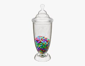 3D Jar with jelly beans 04