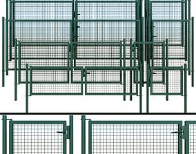 Gate wicket fence 3D