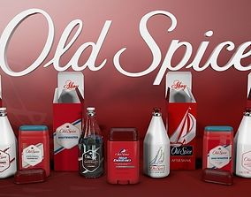 Old Spice Bottles 3D
