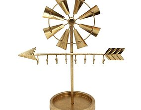 Gold Lucas Windmill Sculpture 3D model
