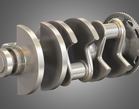 engine Crankshaft - 3D Model