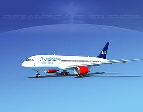 Boeing 787-8 SAS 3D