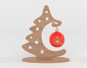 3D winter Christmas tree