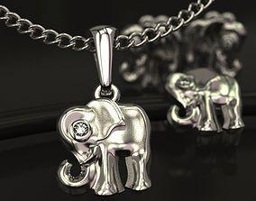 3D printable model Baby Elephant pendant charm and ear 2