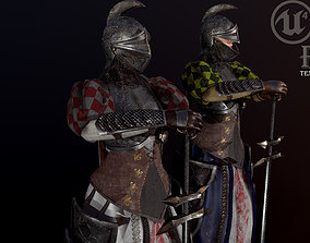 3D model woman knight