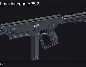 3D asset Scifi Submachinegun APS 2