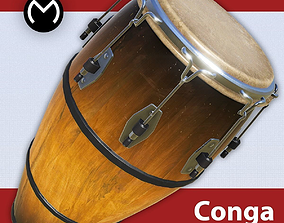 Conga Drum - Real Time PBR 3D asset