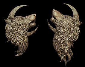Howling Wolf Pendant 2 Versions 3D printable model