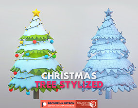 3D model Environment - Christmas Tree Stylized