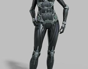 3D asset Cyborg Female Rigged