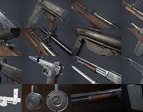 Vietnam War Weapons Pack 3D model PBR