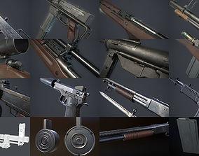 3D model Vietnam War Weapons Pack