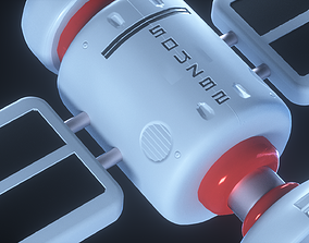 realtime Spaceship stylized 3d model