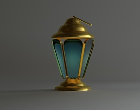 low-poly Islamic Ramadan Lantern 3D Model