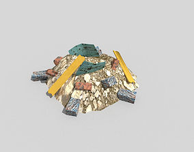 3D model game-ready Debris Pile