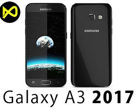 3D model Samsung Galaxy A3 2017 Black