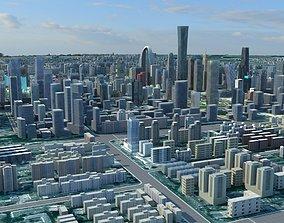 Beijing CBD pekin CITIC Tower CCTV Headquarters 3D