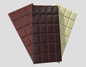 3D asset Chocolate Bars