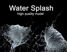 Water Splash 3D Model splatter