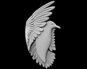 Bird bas-relief 3D print model