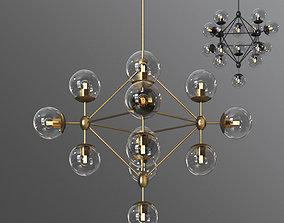 3D Dortch 15 Light Sputnik Chandelier