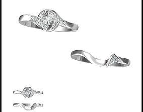 3D print model Cheap bridal set rings types of jewelry
