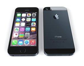 iPhone 5S Low Poly 3D asset