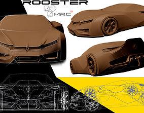Renault concept 3D asset