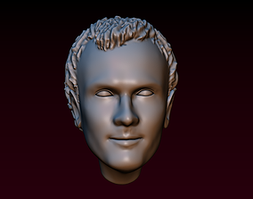 3D print model Man head 16 Male head