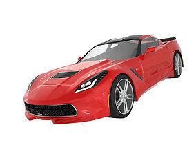 Luxury sports car Stingrey 3D
