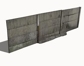 3D model realtime Concrete Fence