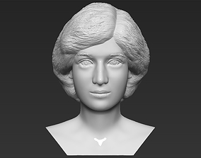 Princess Diana bust 3D printing ready stl obj formats